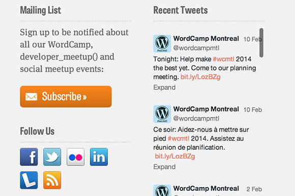 WordCamp 2013 footer detail
