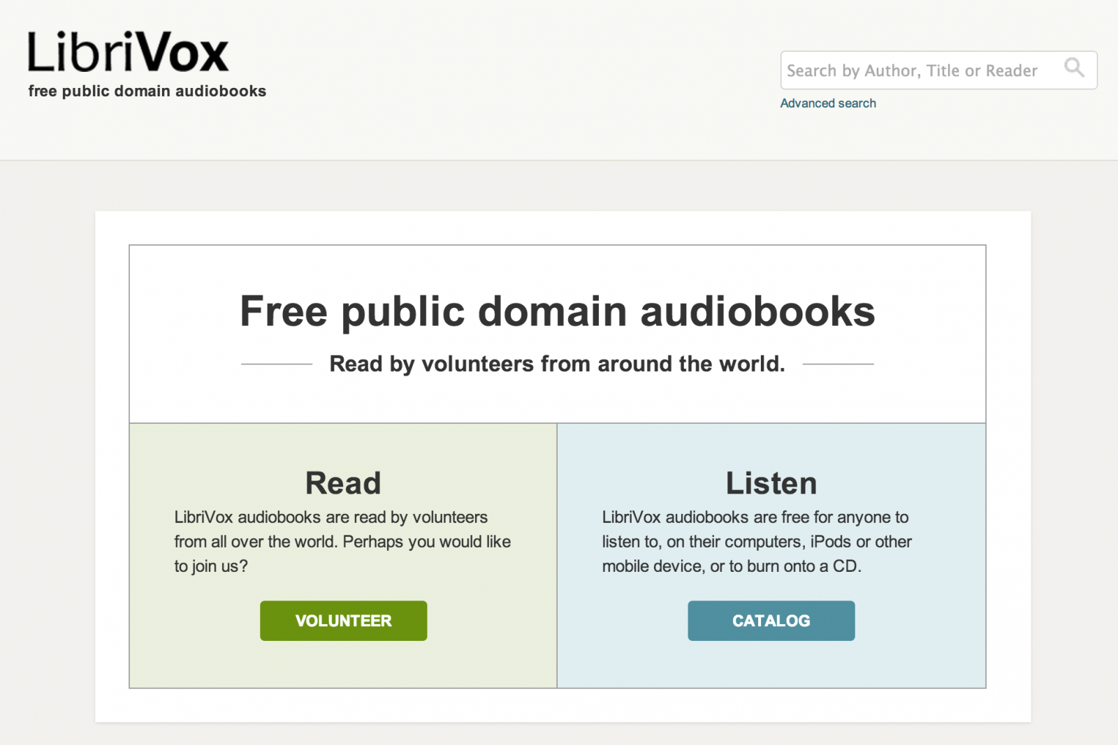 LibriVox screenshot