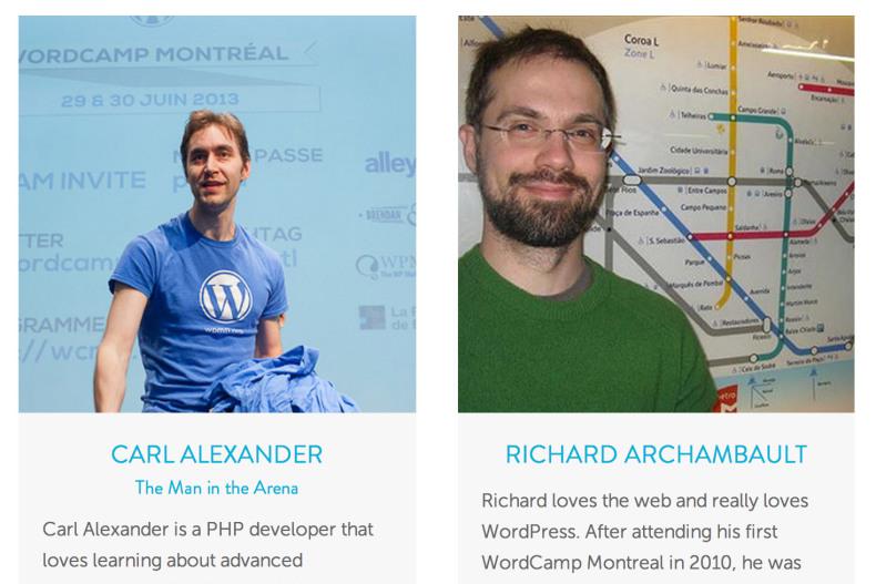 WordCamp Montreal 2014 design screenshot