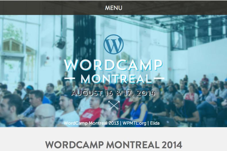 WordCamp Montreal 2014 Responsive screenshot